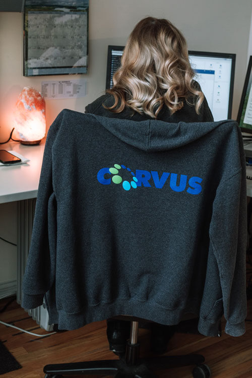 Corvus employee in Chicago headquarters