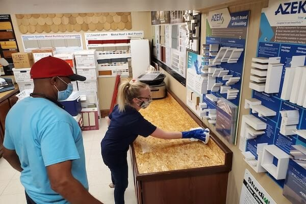 Corvus janitors cleaning and disinfecting