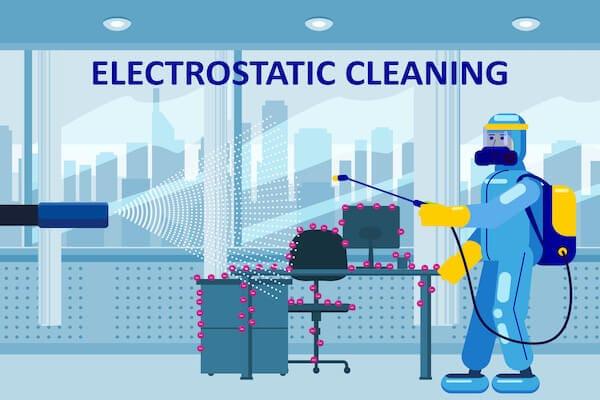 electrostatic spraying in office