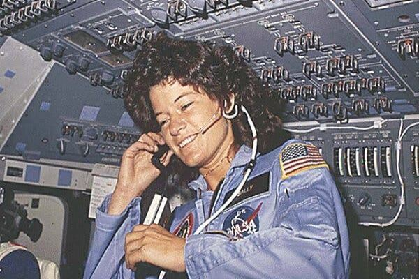 Sally Ride in NASA uniform