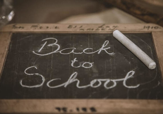 Back to school sign in chalk