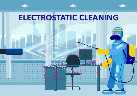 electrostatic spraying in office